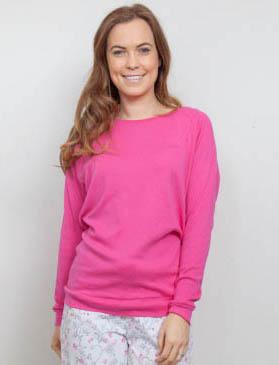 Erica Pink Knit Pyjama Top 3812