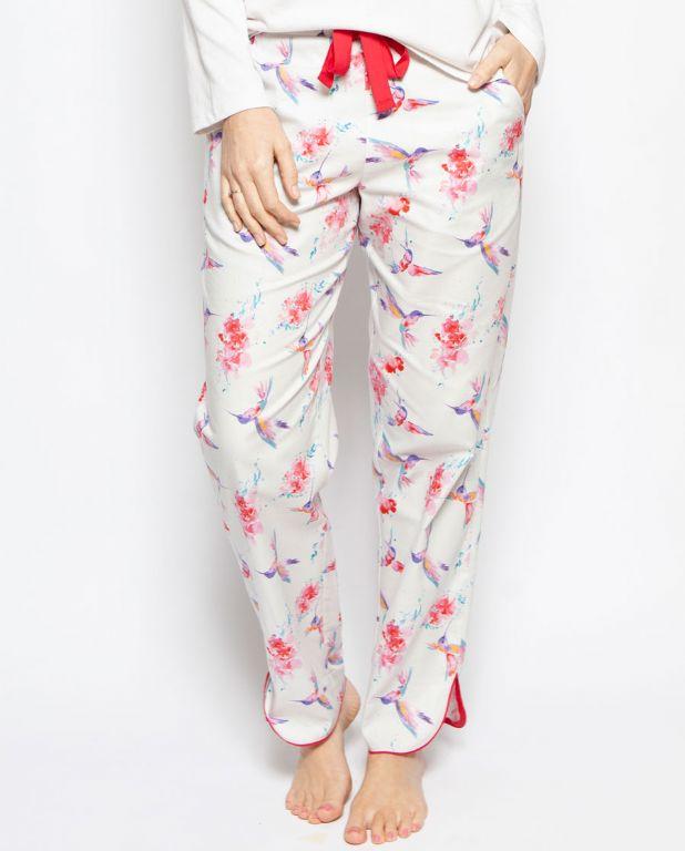 Evie Hummingbird Print Pyjama Pants 4202