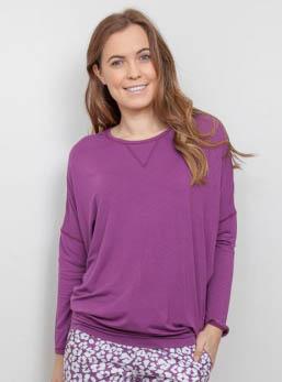 Fiona Magenta Knit Pyjama Top 3837