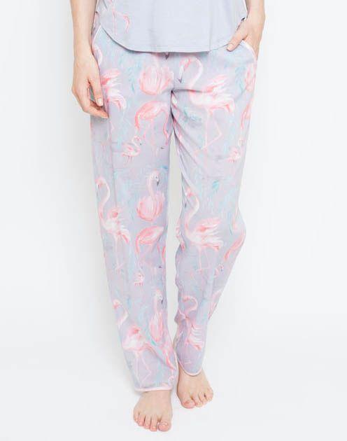 Zara Flamingo Print Pyjama Pant 4112