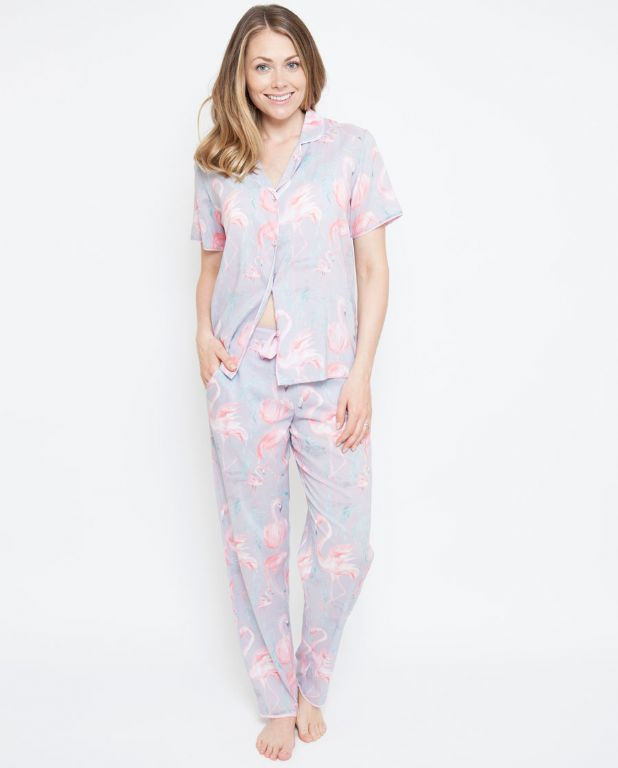 Zara Flamingo Print Pyjama Set 4111/4112