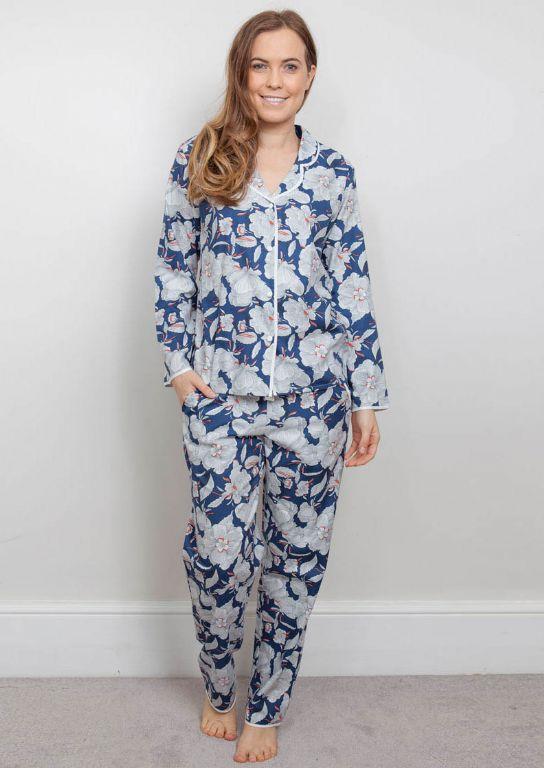 Zoe Woven Floral Print Pyjama Set 3838/3839