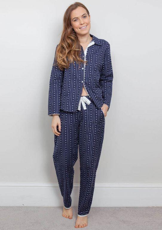 Zoe Woven Heart Dobby Pyjama Set 3846/3847