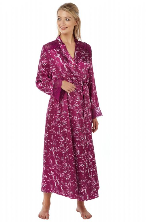 Printed Satin Wrap IN15089