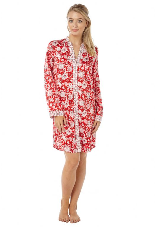 Floral Satin Nightshirt IN15092