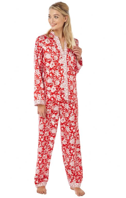 Floral Satin Pyjamas IN15112
