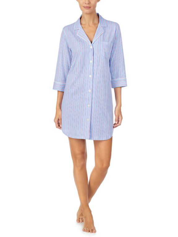 Knit Notch Collar Sleepshirt 31776