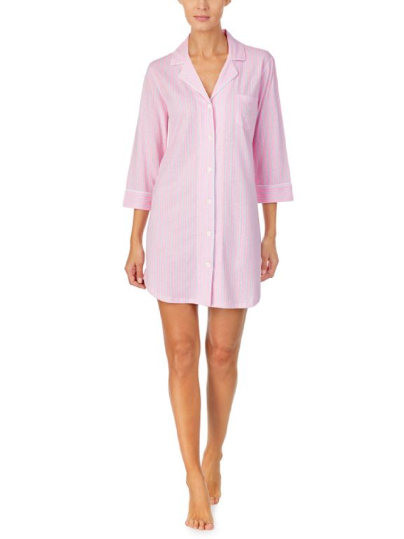 Knit Notch Collar Sleepshirt 31788
