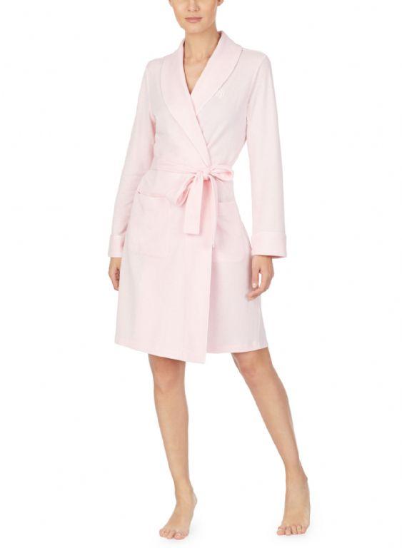 Herringbone Shawl Collar Robe LN42007