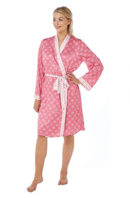 Ursula Satin Kimono Wrap Robe IN18300