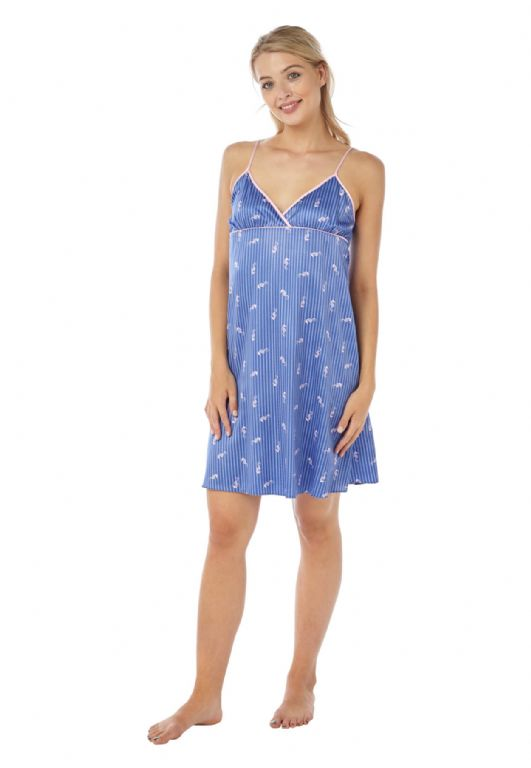 Seahorse Satin Chemise Nightdress IN18305