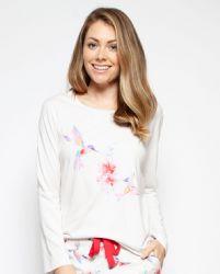 Evie Placement Print Knit Pyjama Top 4210