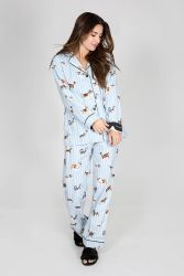 3256cde582a4d Dog Gone Tired Flannel PJ Set